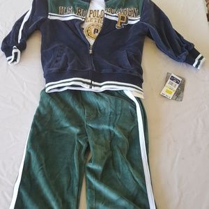 American Polo Assn Youth Size 4 Three Piece Set